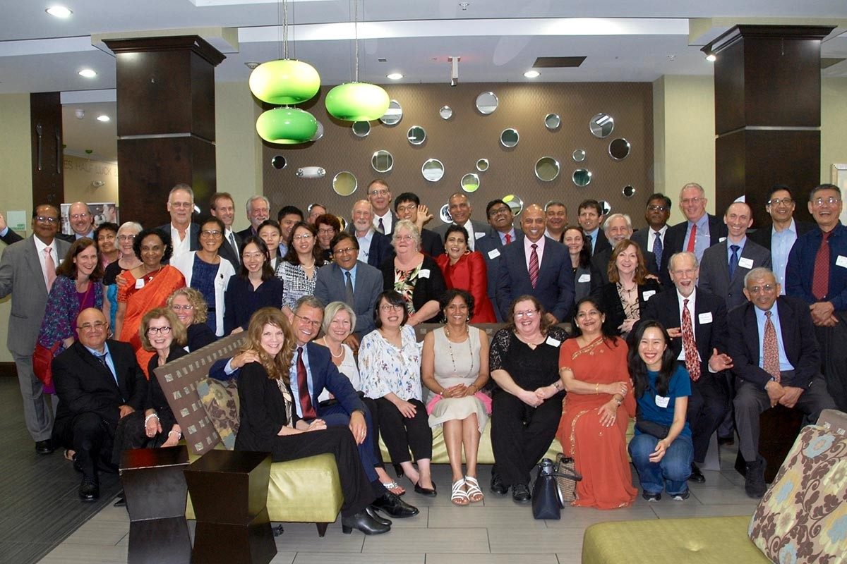 Members of the finance department community and their guests at the reception and dinner. (Photo courtesy of George Morgan and Raman Kumar)