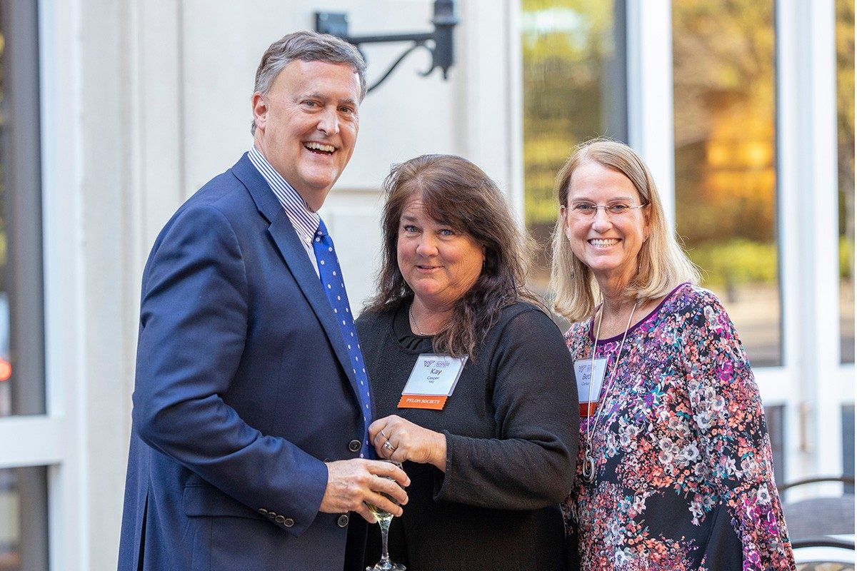 Brad Casper (FIN '82), Kay Casper (ANSC '82), Beth Carter (Photo credit: Brett Lemon)