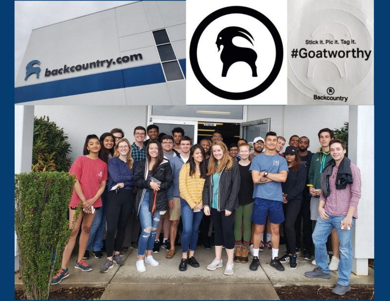 A group of over 30 students toured the Backcountry.com Distribution Center