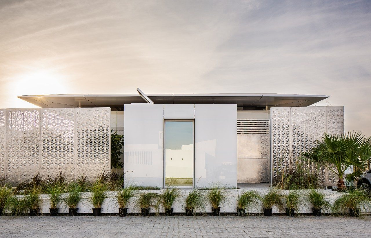 FutureHAUS in Dubai. The factory produced, energy-positive, smart home can be assembled rapidly due to its modular, pre-fabricated design. (Photo by Erik Thorsen)