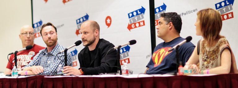 Adam Ernest participated in a panel hosted by the Free and Equal Elections Foundation at Politicon in Los Angeles in June. The convention fuses satire, seriousness, and political celebrities.