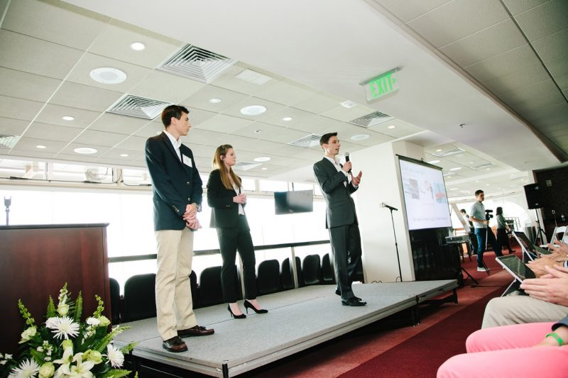 Teams present their ideas at the Union Innovation Challenge