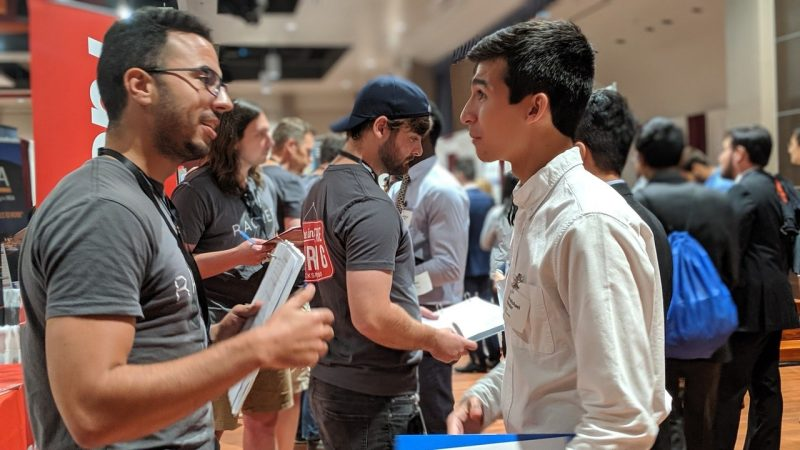 The career fair provides an empowering environment for students to get in front of employers, including Rackspace, which has a local office in Blacksburg as well as global locations.