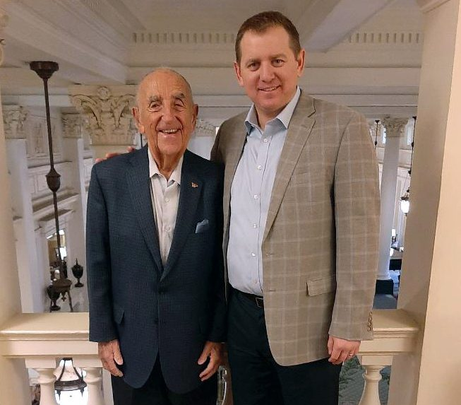 Howard Feiertag and Greg Furlong, vice president of sales for The Greenbrier.